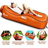 SEGOAL Ergonomic Inflatable Lounger Beach Bed Camping Chair Air Sofa Couch Hammock with Pillow, Waterproof Anti-Air…