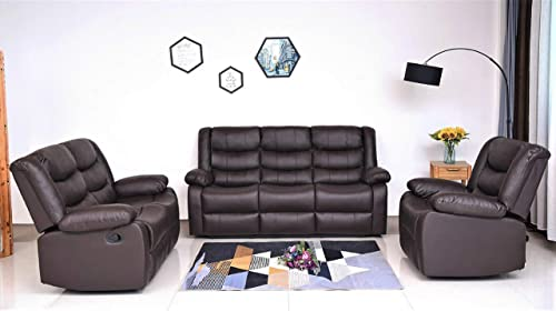 US Pride Furniture Sectional, 3PC, Brown
