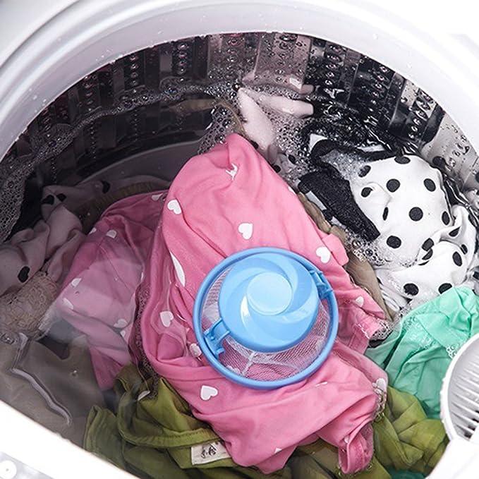 ❤SU/&YU❤Washing Machine Lint Filter Bag Laundry Mesh Hair Catcher Floating Ball Pouch
