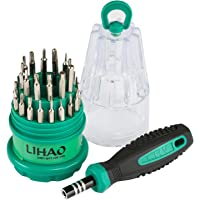 LIHAO Magnetic Screwdriver Kit, 31 in 1 Precision Screwdriver Bits, Electronics Repair Tool Kits for iPhone8, 8 Plus/Game Console/Tablet/PC/MacBook/iPad and Other Electronics
