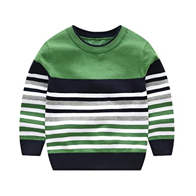 Amazon.com Striped Sweaters Children Pullover Knitted Top