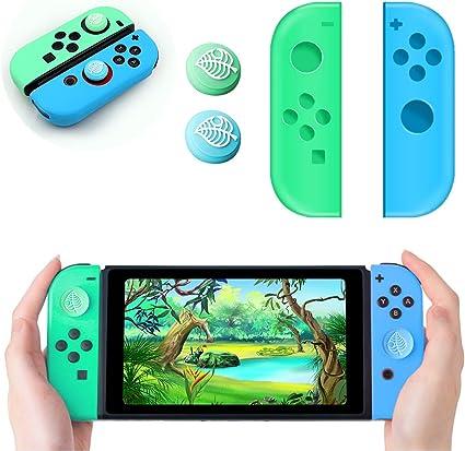 Haobuy Joy-con Caps and 2 Joystick Cover for Nintendo Switch, Joy ...