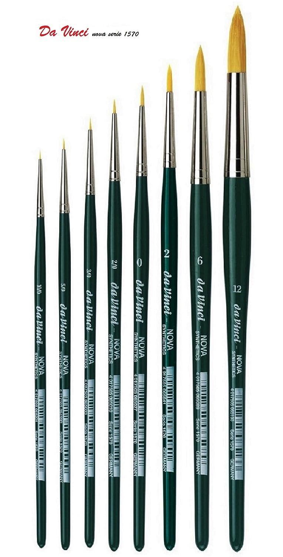 da Vinci 1570 Serie Nova Watercolour Brush Set no.10/0, 5/0, 3/0, 2/0, 0 ,2 ,6, 12. da Vinci Espacebeauxarts