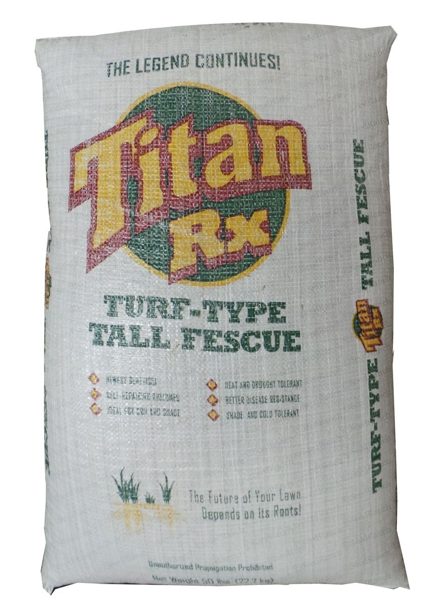 SeedRanch Titan Rx Tall Fescue Grass Seeds - 50 Lbs.
