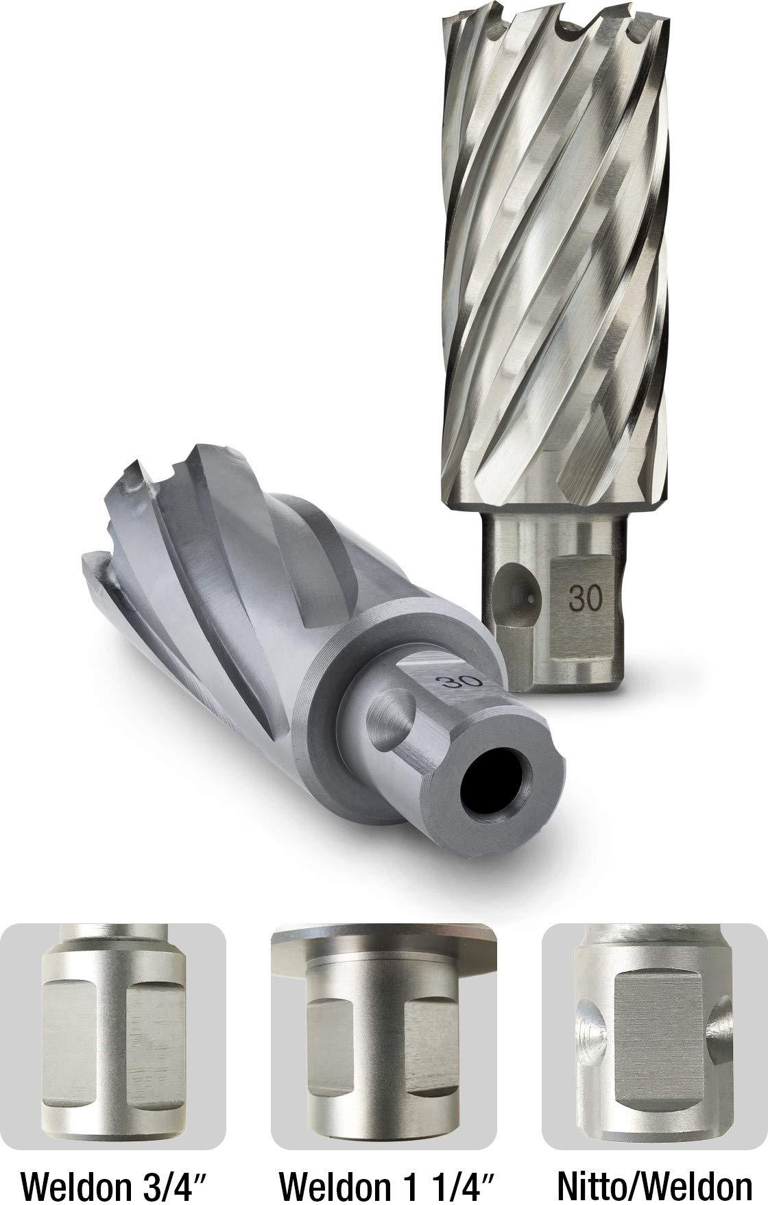 Euroboor Annular Cutter - 1-5/16'' x 1'' High Speed Cutter with Optimized Teeth Geometry & Pilot Pin - HCSU.1-15/16