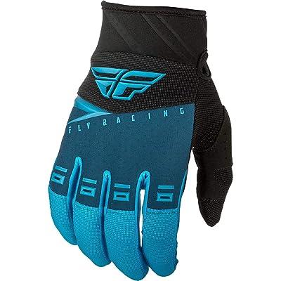 Fly Racing 2020 Youth F-16 Gloves (Large) (Blue/Black/HI-VIZ): Automotive