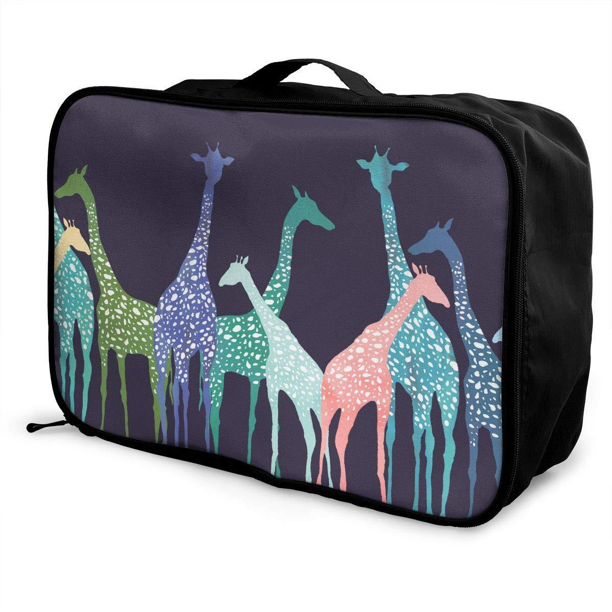 Lightweight Large Capacity Portable Duffel Bag for Men /& Women Color Giraffe Travel Duffel Bag Backpack JTRVW Luggage Bags for Travel