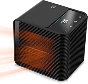1500W high-power heater touch heater,heat up in 3 seconds, with safety protection device, extremely quiet, safe and comfortable for home office