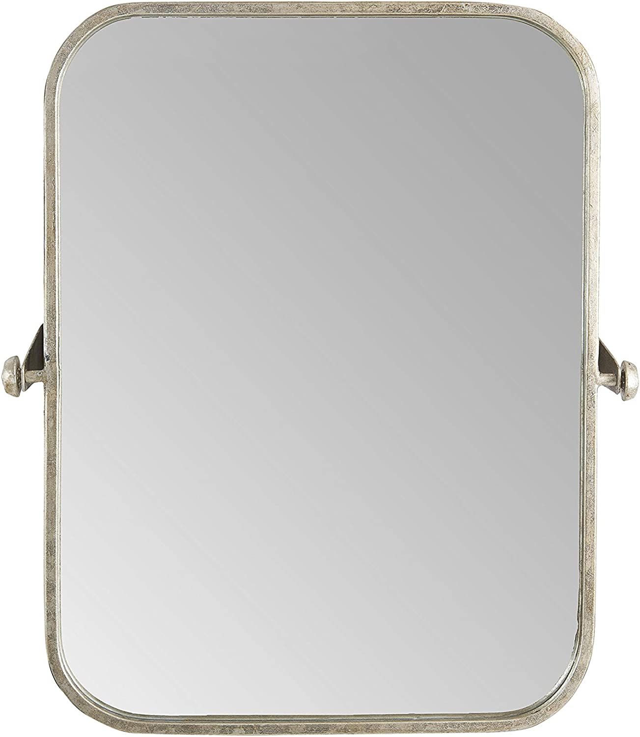 Creative Co-op Metal Framed Pivoting Wall Reflective Mirrors, Gold