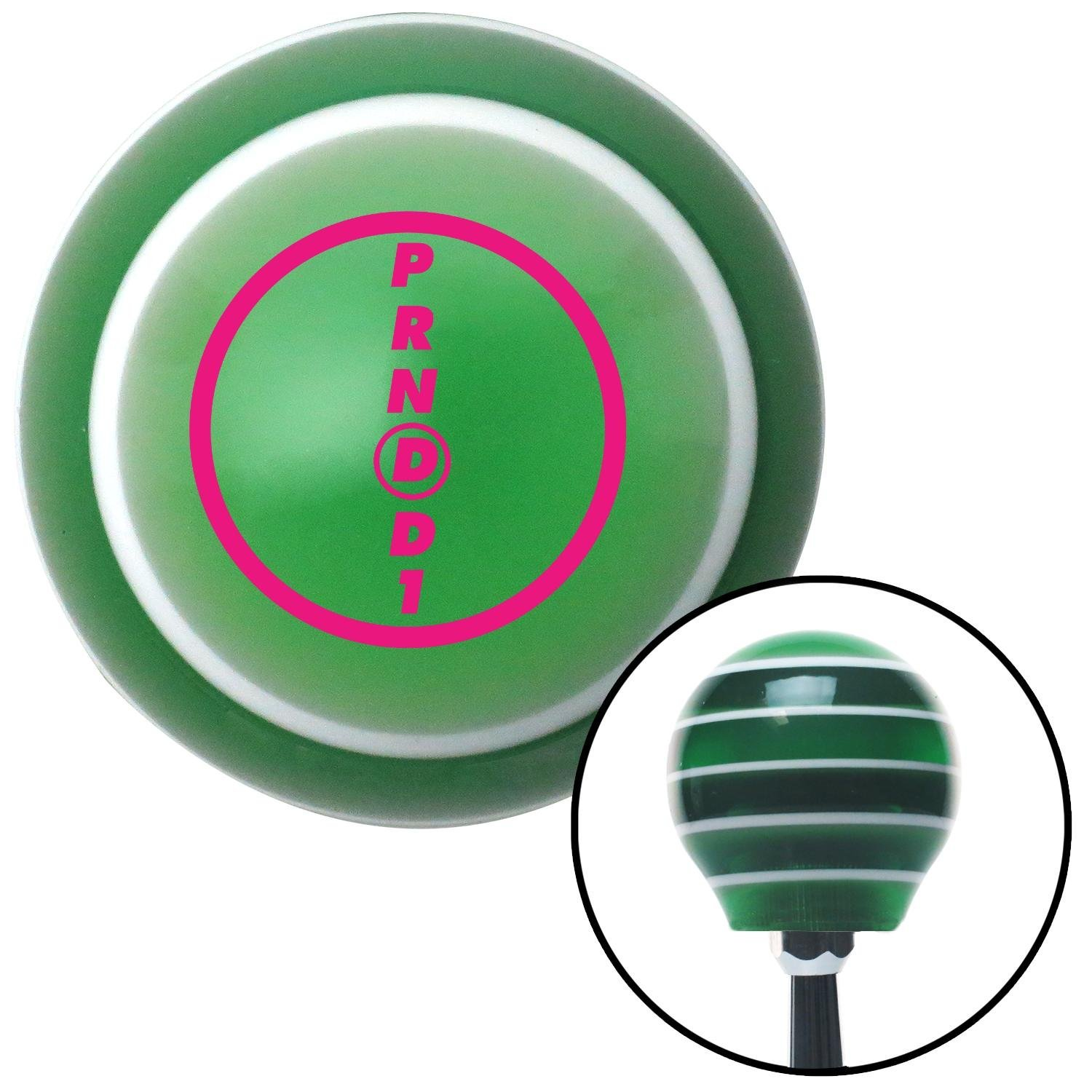American Shifter 126837 Green Stripe Shift Knob with M16 x 1.5 Insert Pink Ford Overdrive