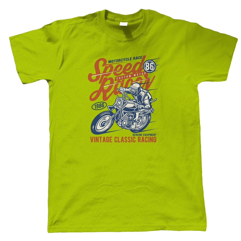 Vitesse Coureur T-Shirt pour Hommes Intemporel R/étro Vintage Iconique S/éminal M/émorable Moto Scooter Street Caf/é Racer Rider Sidecar Motos Cadeau Lui Papa
