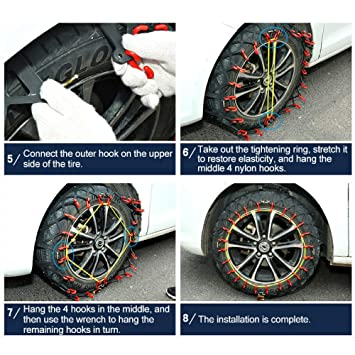 Amazon.com: JXHD Car Tire Chains/Anti-Slip Snow Chains - Fully Wrapped Car SUV Tire Universal Design(2Pcs/Set),A7: Garden & Outdoor