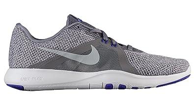 Nike NIKE924339 Flex Trainer 8, Damen Damen, Grau (GunsmokeMetallic Silver Atmosphere Grey), 35 M EU
