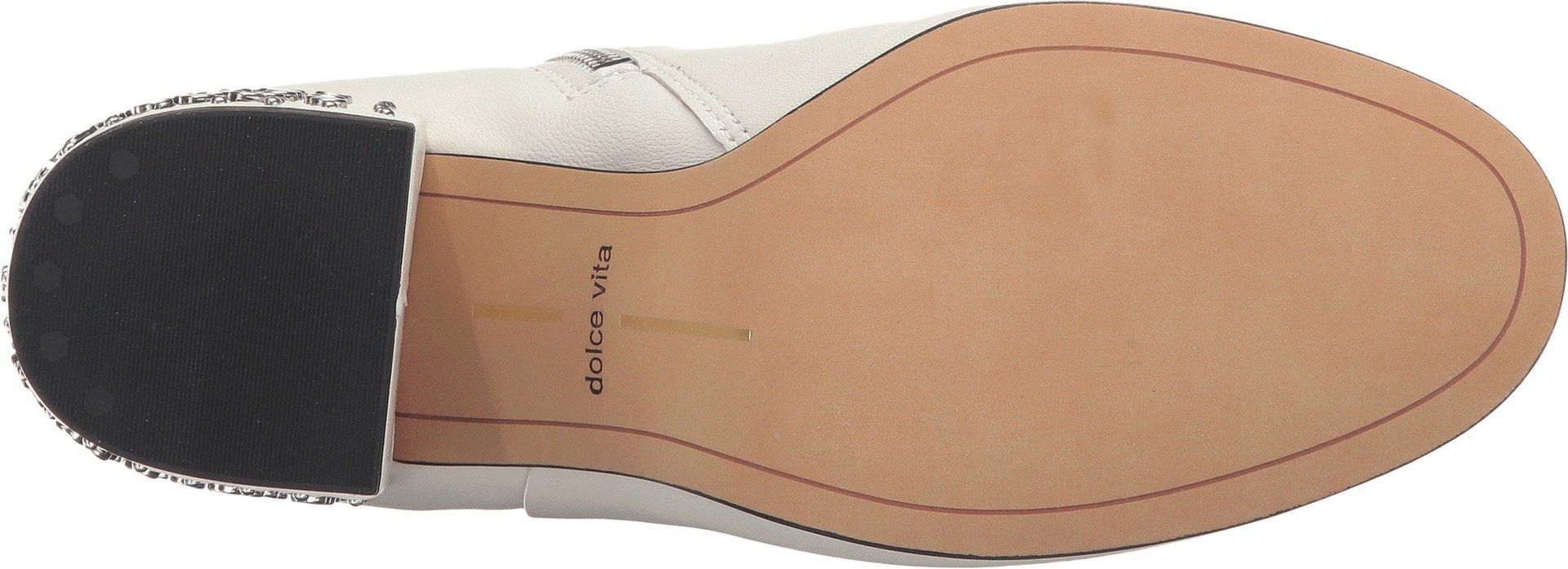 Dolce Vita Women's Olin Fashion Boot, Off White Leather, 6.5 Medium US