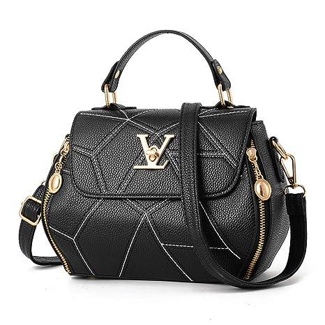 20d4732cf3c Amazon.com: LIUGHGB Womens Bag Luxury Leather H Bags Shell Thread ...