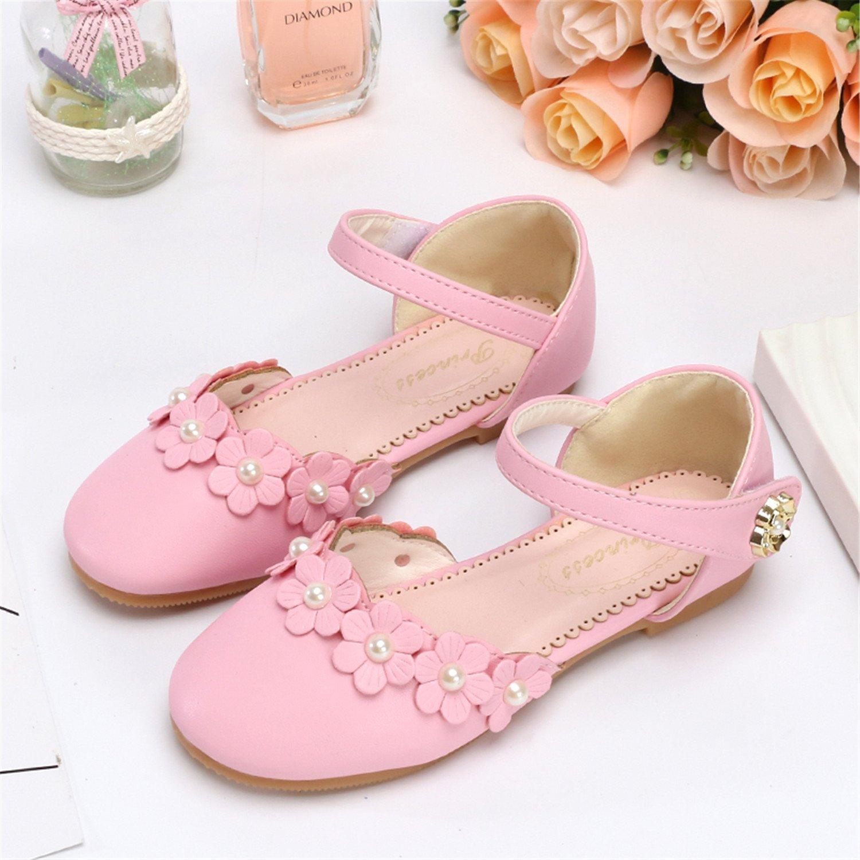 Amazon Baqijian Girl Flowers Flat With Sandals Kids Sandals