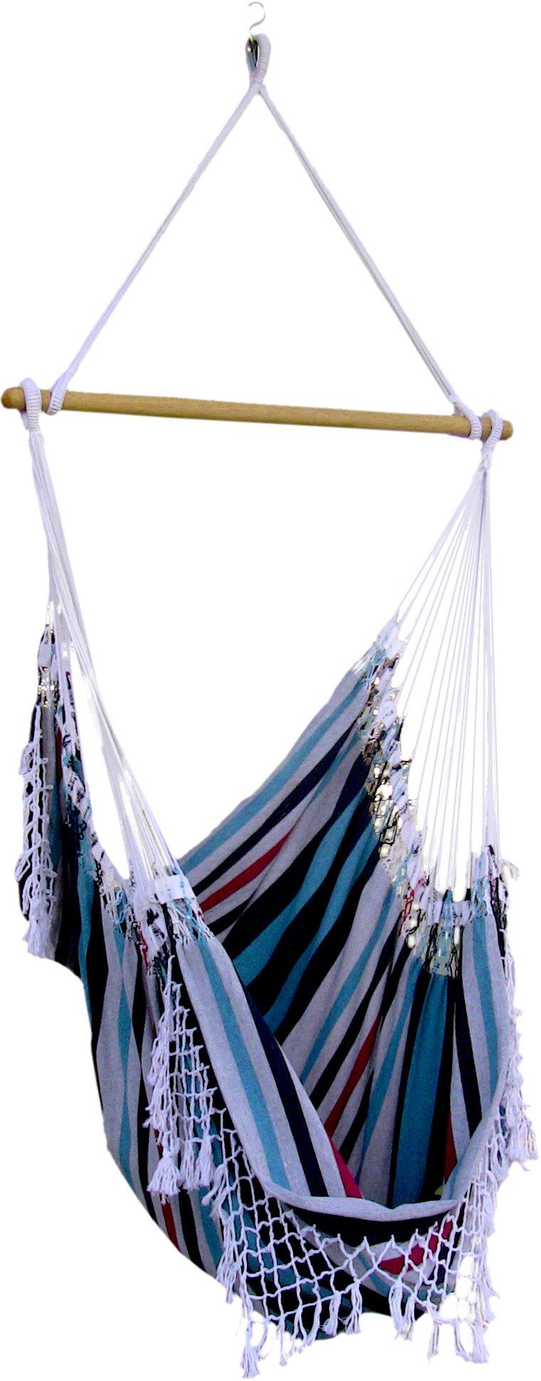 Vivere Brazilian Hammock Chair, Denim