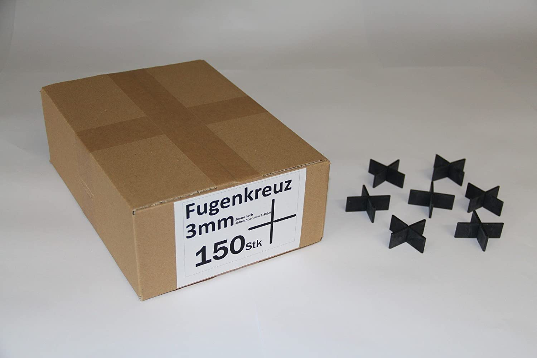 Fugenkreuze 3mm 150 St/ück im Karton Bauh/öhe 20mm