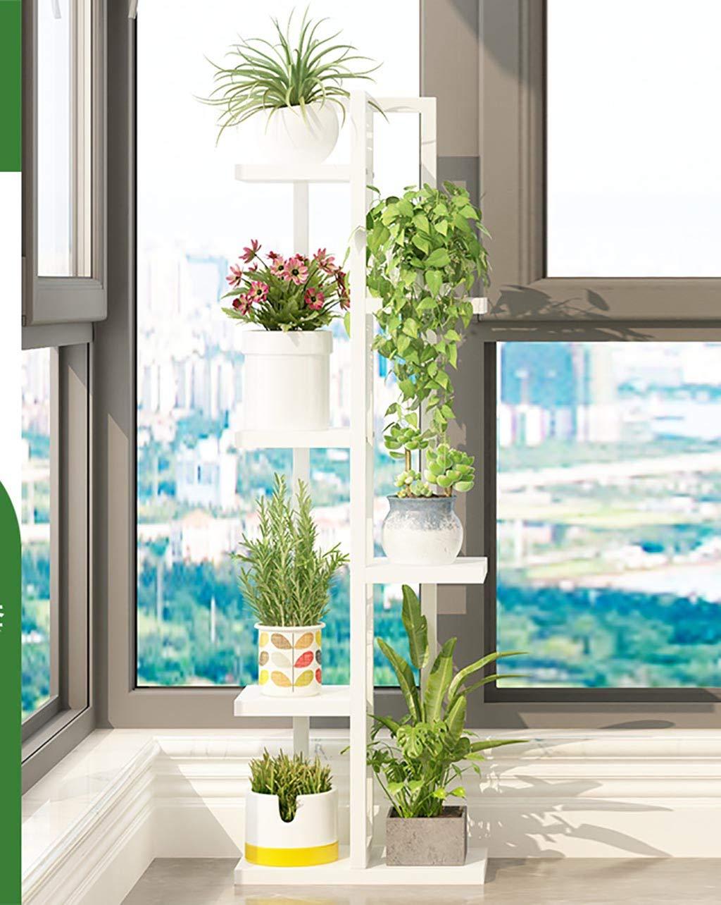 GJ-HJ Vasi E Accessori per Piante Mensola per Fiori mensola per balconi Coperta a Sei Piani in Ferro battuto con portaoggetti in Soggiorno Decorazioni per Il Giardino (colore   C)