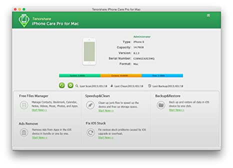 Tenorshare Iphone Care Pro For Mac Aufraumen Junk Dateien Tune Up
