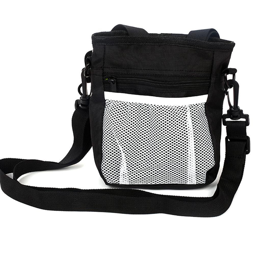 huang Futterbeutel für Hunde,Trainingsbeutel Hund, Oxford Hände Frei Hund Treat Tasche mit Eingebautem Poop Tasche Spender