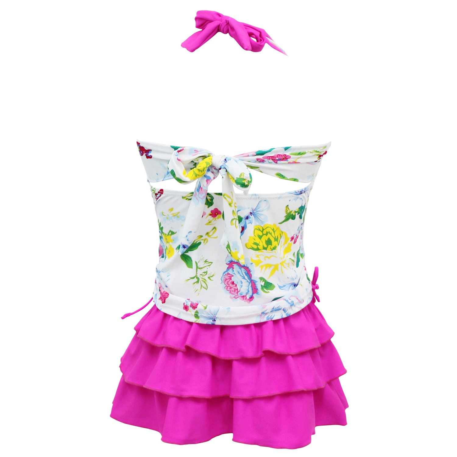 FBA qyqkfly Girls/' 2 Piece 4Y-15Y Florence Adjustable Tankini Swimsuit