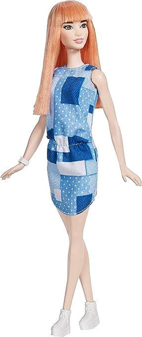 2016 Barbie Fashionistas No 60 Orange Hair Asian doll  Patchwork dress