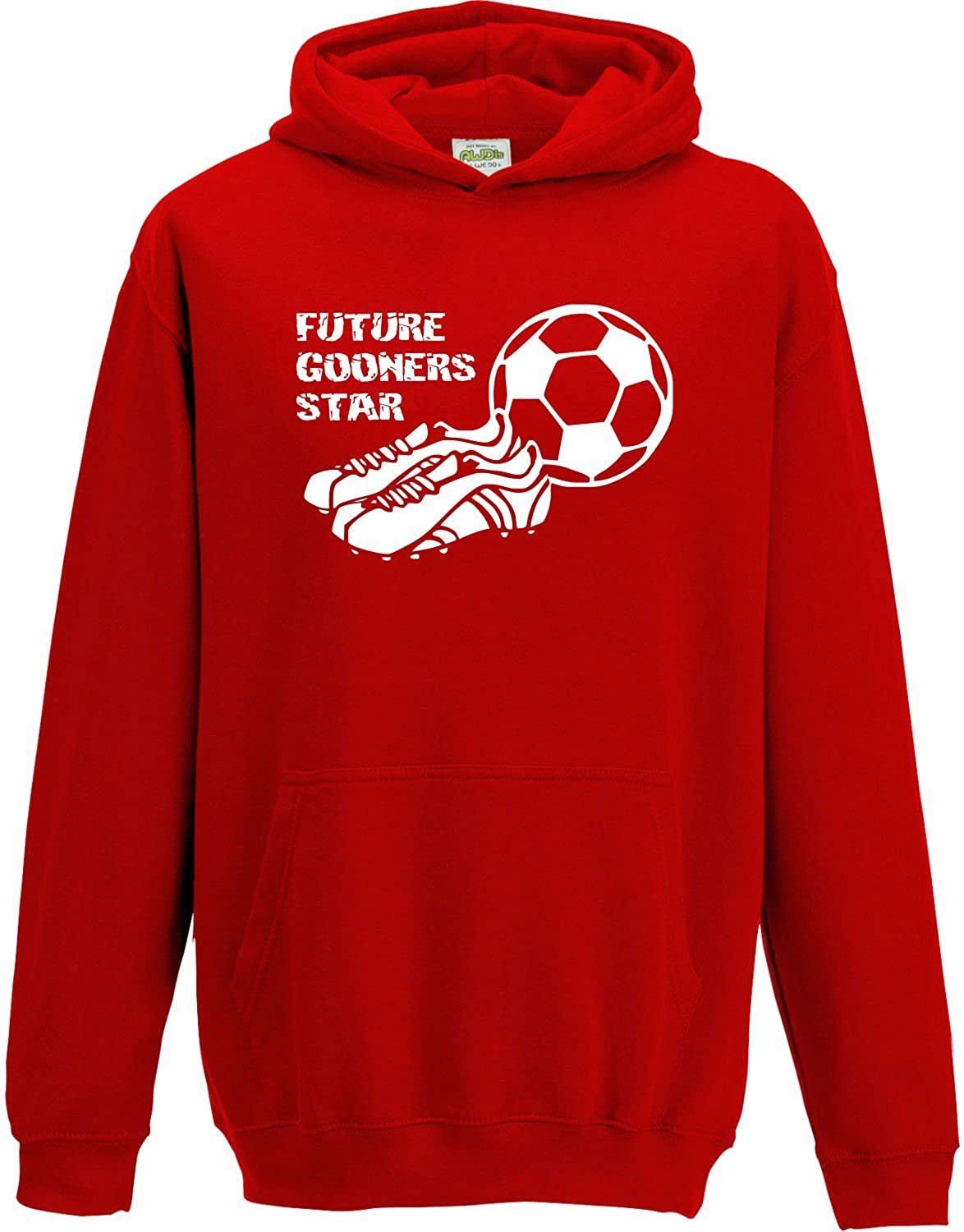 Hat-Trick Designs Arsenal Football Baby/Kids/Childrens Hoodie Sweatshirt-Red-Future Star-Unisex Gift