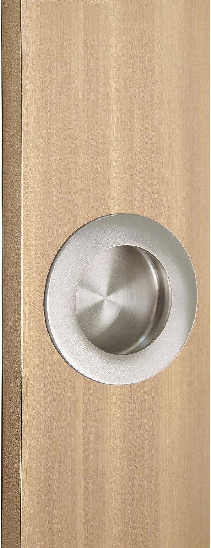 negro Diameter:50mm Probrico acero inoxidable 304/empotrada Flush Pull mango redondo di/ámetro 50/mm y 60/mm con tornillos