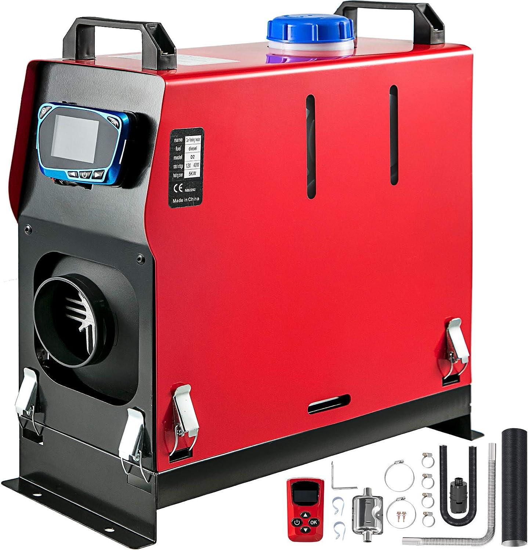 Triclicks 5KW 12V Calentador de Aire Diesel,Diesel Calentador Coche,Calentador de Combustible Calefacci/ón Estacionaria Diesel con Monitor LCD para Furgonetas remolques de autom/óviles,Barcos