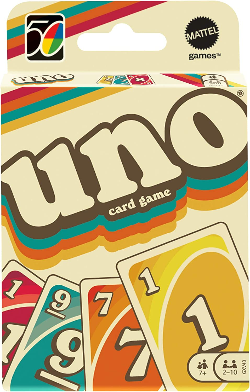 112 Cards for Collectors Ages 7 Years /& Older. UNO Iconic Series 1970s Matching Card Game Featuring Decade-Themed Design Teen /& Adult Game Night