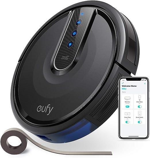 eufy [BoostIQ RoboVac 35C, Robot Aspirador, Robot Limpieza, Ultrafino, succón de 1500 Pa, con Tira de marcación de límites de 4m, silencioso, autocarga, Limpia Suelos Duros a alfombras de Pelo Medio: Amazon.es: