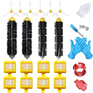 Joybros 20-Pack Replacement Parts Compatible for iRobot Roomba Accessories 700 Series 760 761 770 780 790 Filter Brush Vacuum Cleaner Replenishment Kit