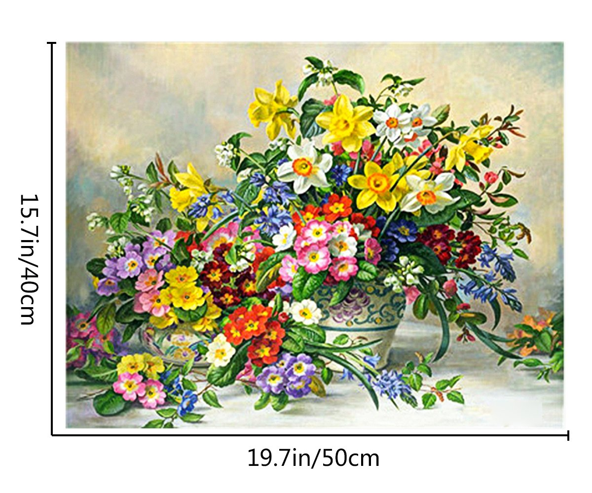 Pick Four Seasons 1620 inch. paint by number kit Diy oil painting