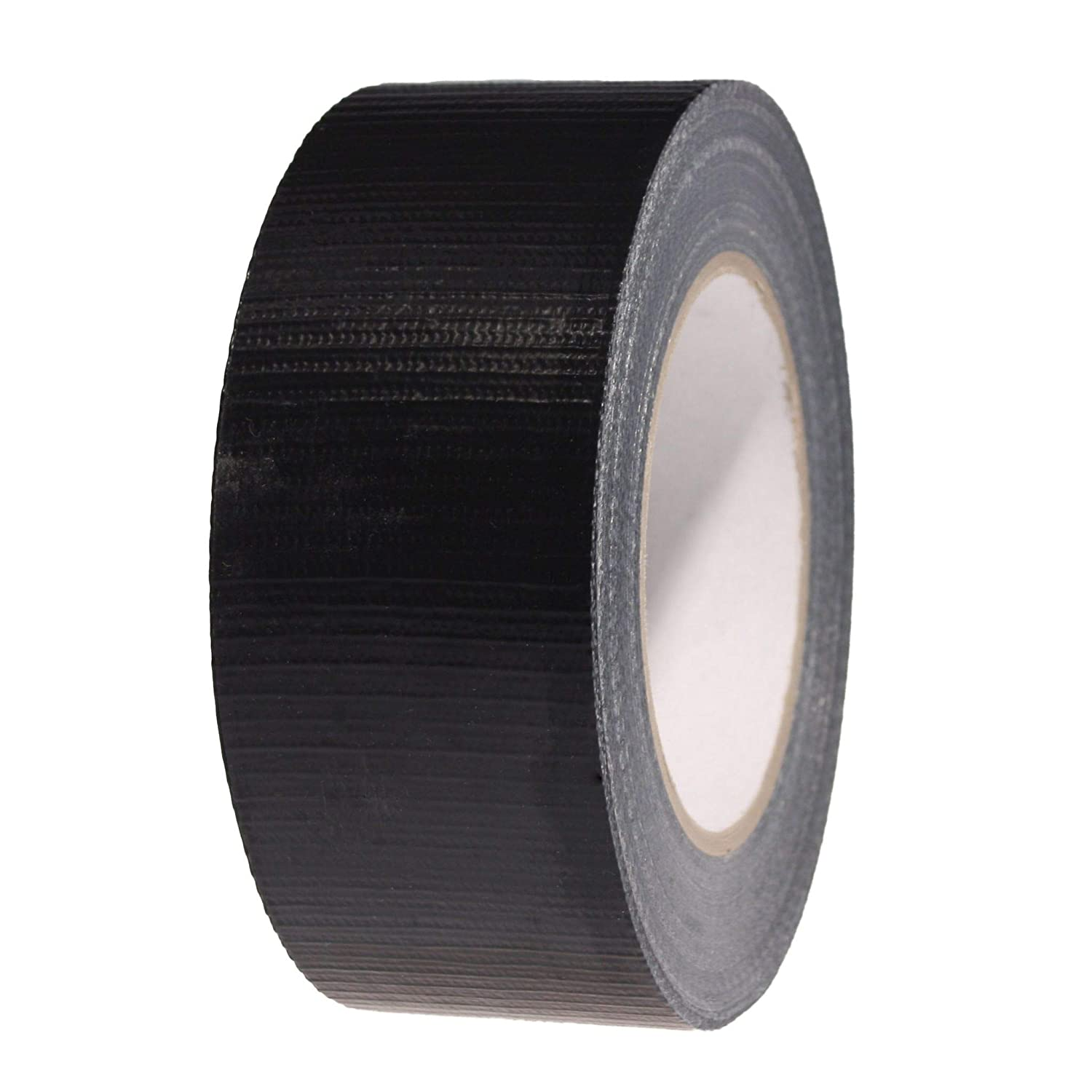 Duck Duct GAFFA Gaffer Waterproof Cloth Tape Silver/Black / White 48mm X 50M (12, Black) PACKAGING AND DISPOSABLES