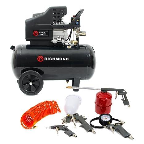 Compresor de aire de 50 litros y kit de herramientas - 9,6 CFM,