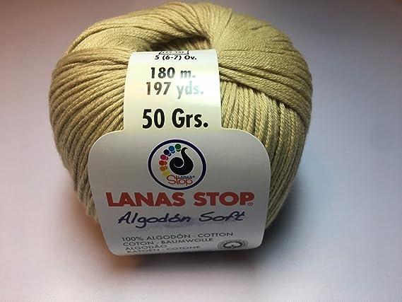 Lanas Stop Algodon Soft Color: 710 Lana Lana de Lujo de algodón #: Amazon.es: Juguetes y juegos