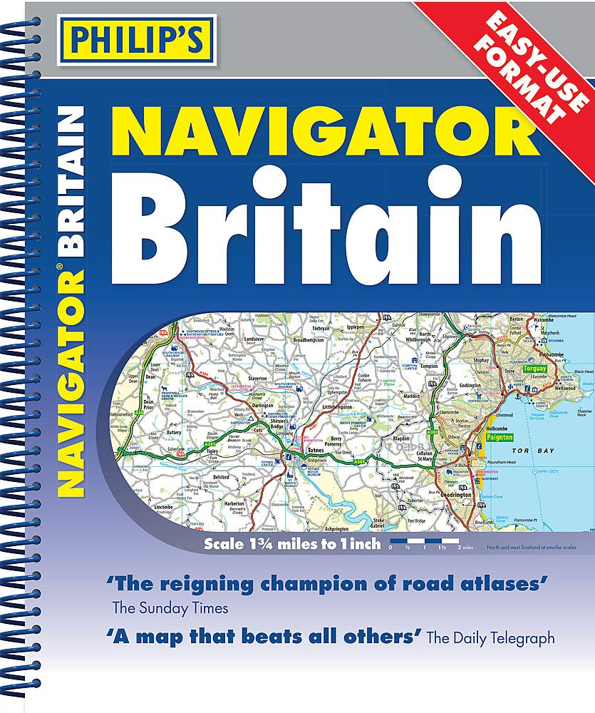 Philip's 2020 Navigator Britain Easy Use Format: Spiral