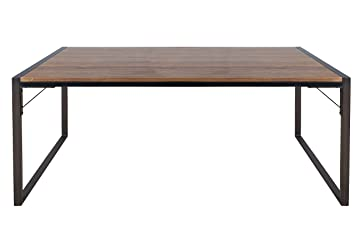 LCH 5 Feet Industrial Metal Dining Table Bench, Modern Style Office Table/Desk  With