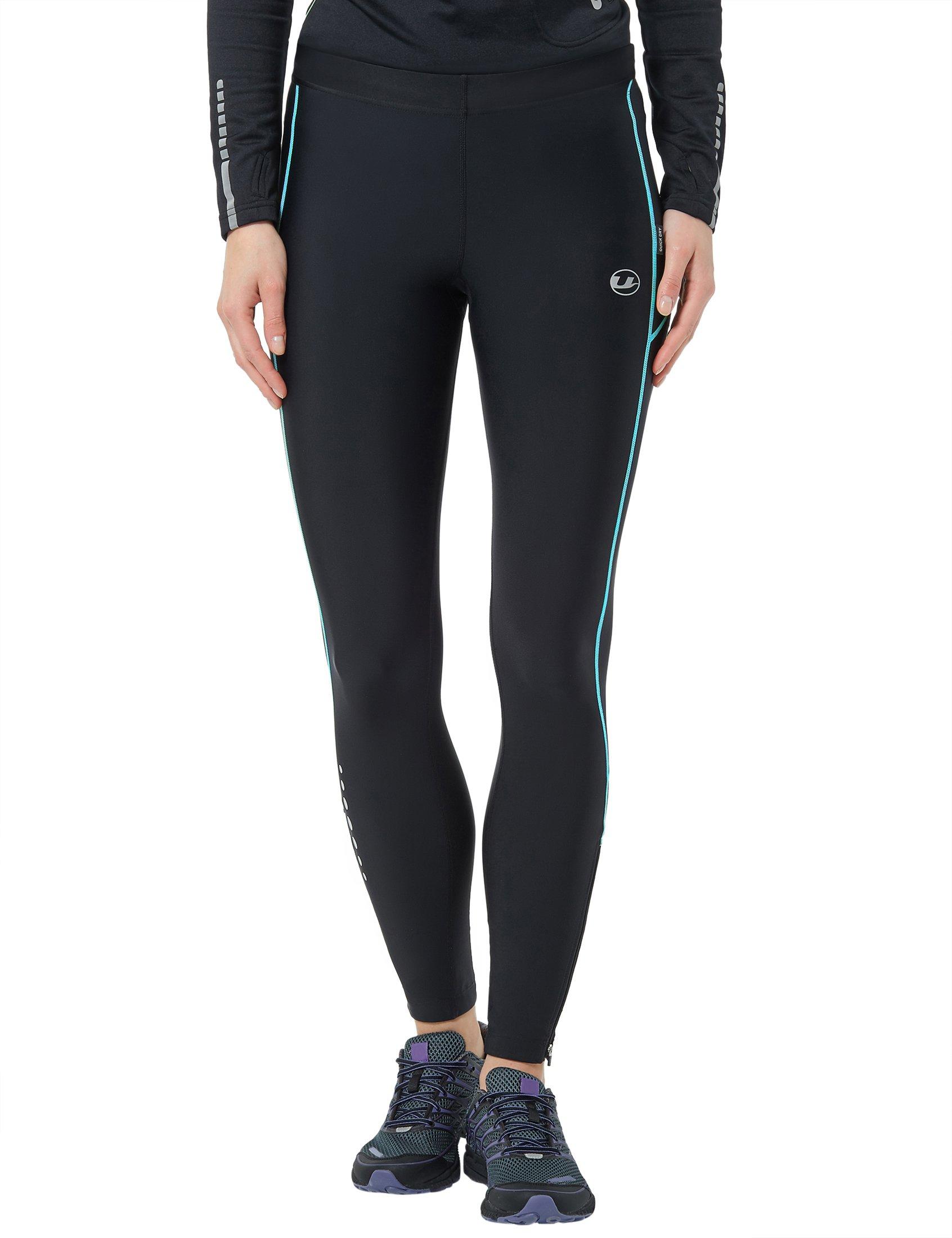 Ultrasport Pantalones largos de correr para mujer, con efecto de compresión y función de secado