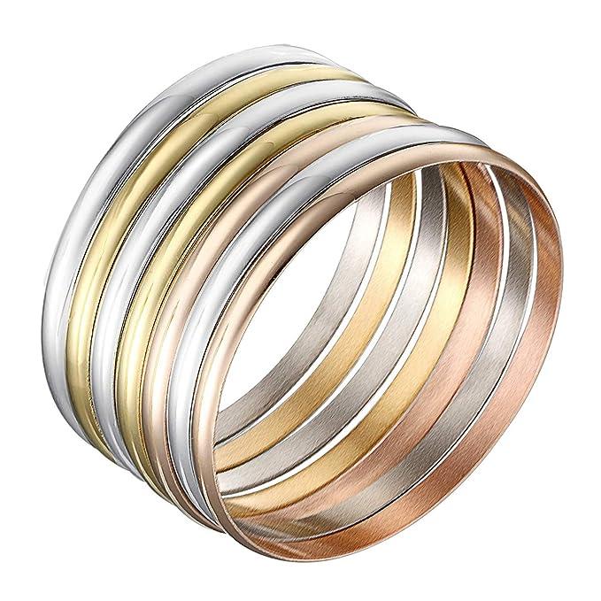 Amazon.com: Castillna conjunto de 7 brazaletes de acero ...