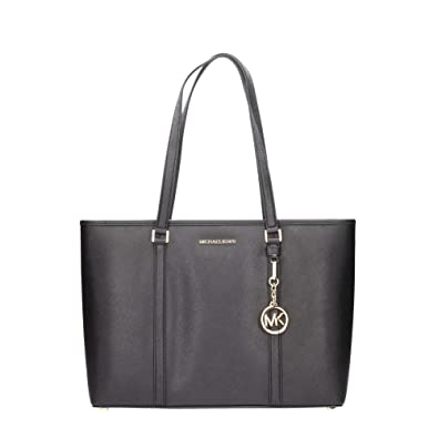 f89516ae66 Amazon.com  Michael Kors Large Sady Carryall Shoulder Bag (Black)  Shoes