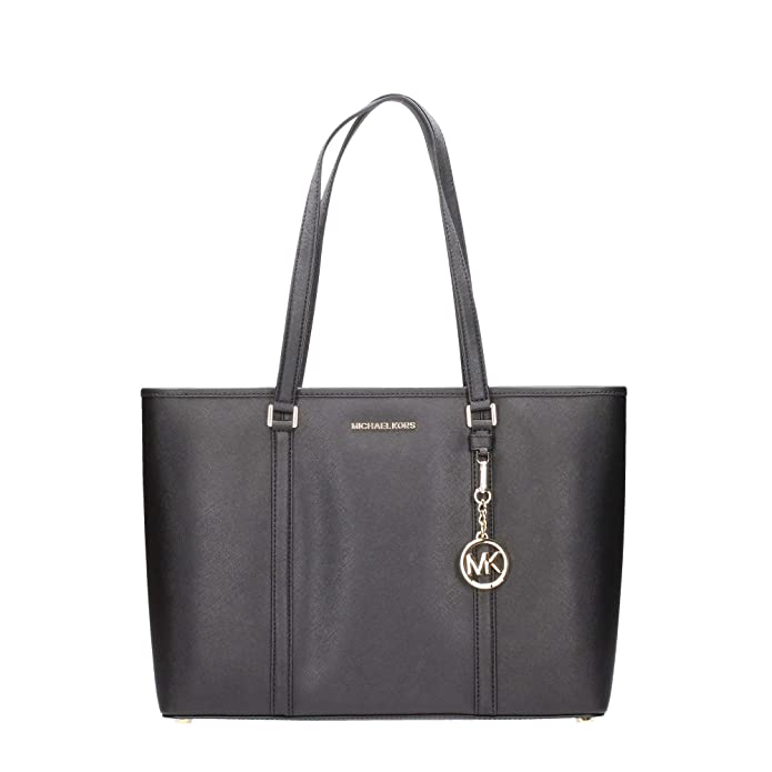 ce9fe1dde66f0 Amazon.com  Michael Kors Large Sady Carryall Shoulder Bag (Black)  Shoes