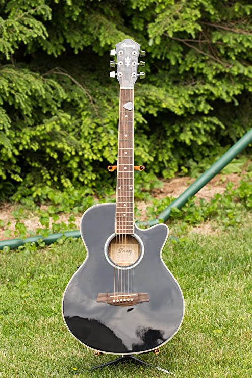 Ibanez aeg10e AEG Series Guitarra Electroacústica – negro: Amazon ...