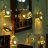 Quace Indoor String Light (Wood House),Yellow