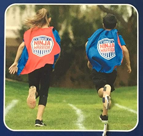 American Ninja Warrior Reversible Cape in Red/Blue (One Size Fits Most)