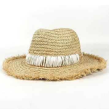 YINUO Gorras Sombrero Panamá de la Paja de la Rafia de Las Mujeres de la  Moda d5301a0d5f3