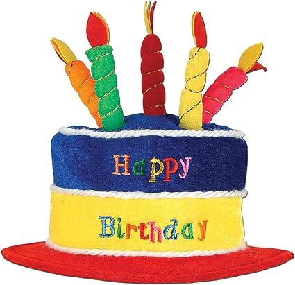 Amazon.com: Sombrero de pastel de cumpleaños de color ...