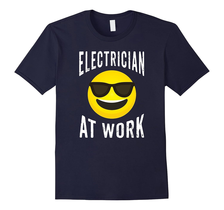 Electrician Shirt - Emoji Electrician Hard At Work T-shirt-TJ