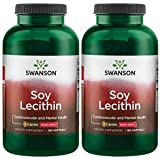 Swanson Soy Lecithin Non-GMO 1.2 g 180 Sgels 2 Pack